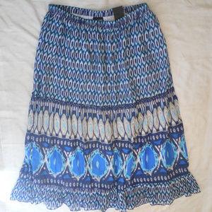Lane Bryant Maxi Skirt Tiered Full Length Boho